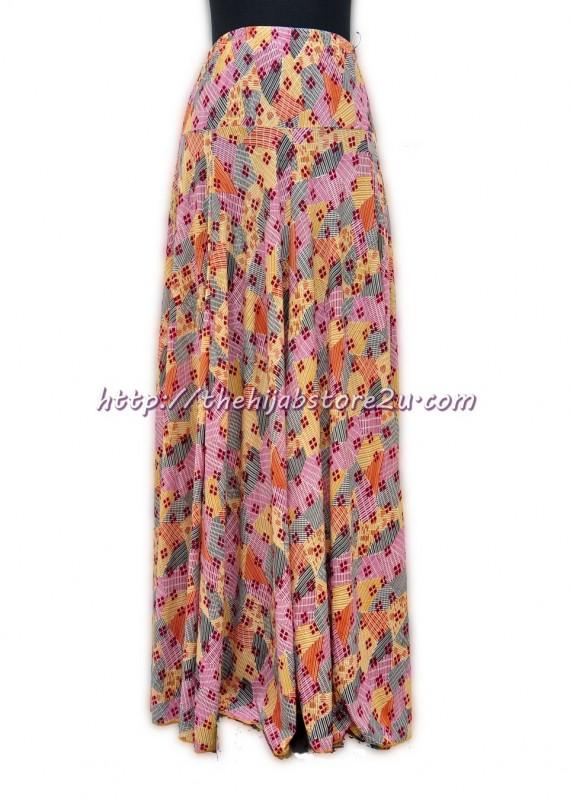 Lycra skirt orange brown
