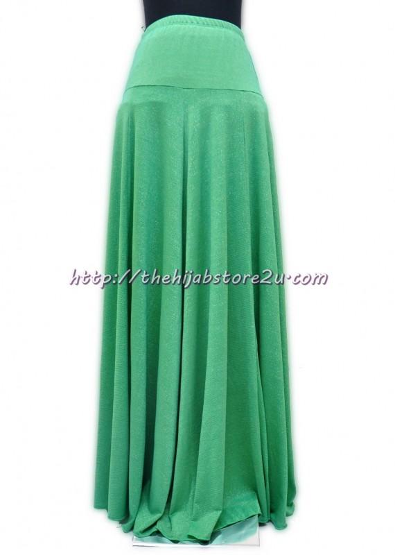 Glitter green maxi skirt