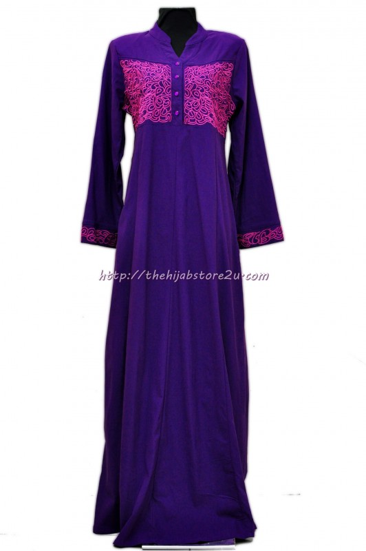 jubah catwalk ungu