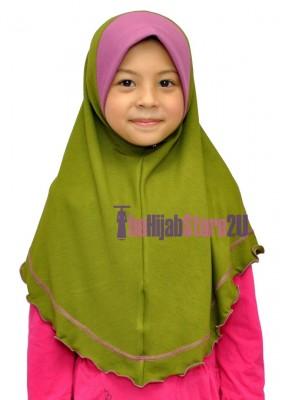 Kids Tudung Duo Color