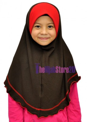 Kids Tudung Duo Color