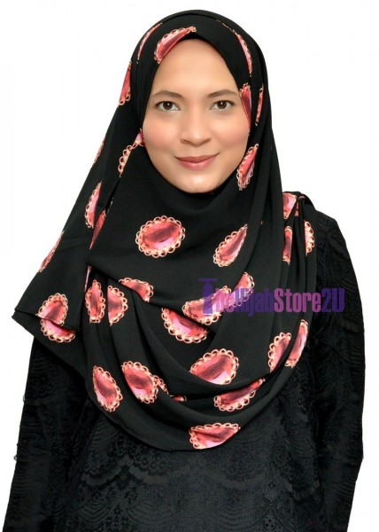 Double Loop Bubble Crepe Instant Shawl
